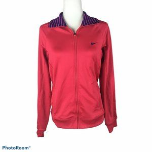 Nike Dri-Fit Pink Zip-Up Athletic Jacket Small